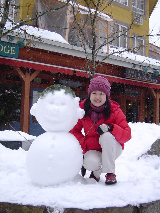 超可愛的雪人