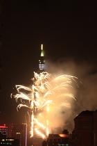 101焰火--中華民國100年新的希望--千層銀瀑