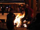 太浩湖溜冰場營火
