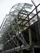 台北市立田徑場屋頂桁架工程
